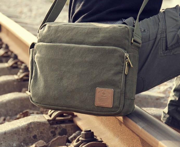 8a16bfe0506f ... messenger bags for men  army green canvas shoulder bag ...