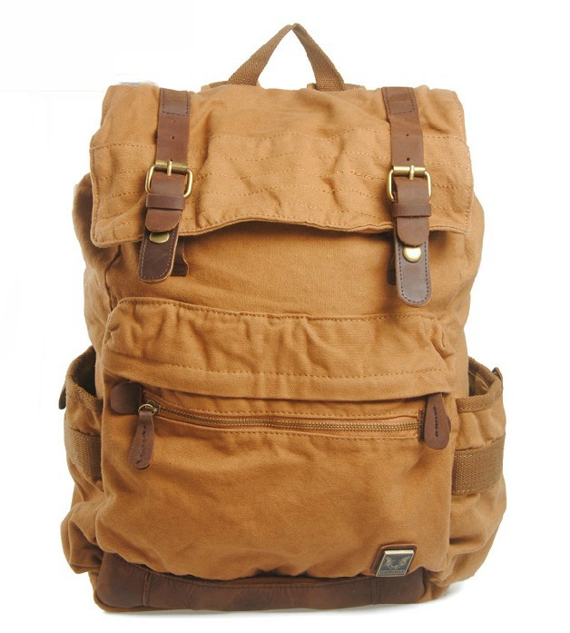 Canvas backpacks for high school, canvas rucksack school backpack ...