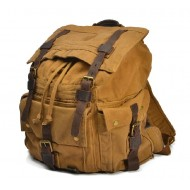 Canvas knapsack backpack, canvas rucksack vintage