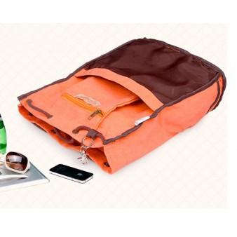 orange trendy backpack
