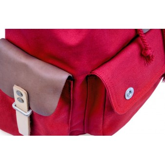red security friendly laptop backpack