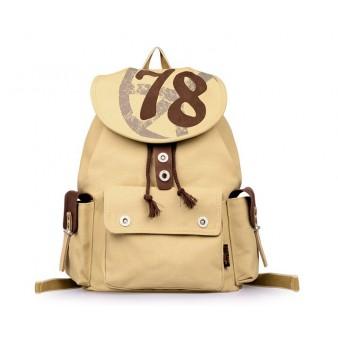 khaki security friendly laptop backpack