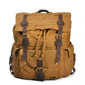 vintage Canvas knapsack backpack