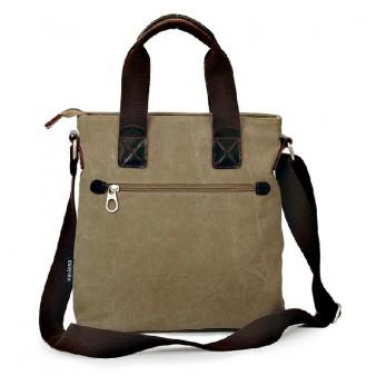 khaki Organizer handbag