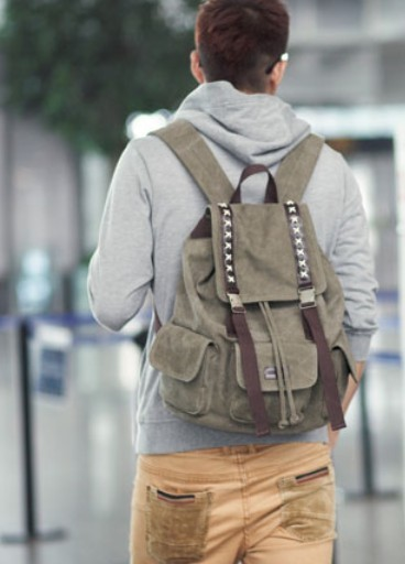 4dcafb105c ... mens eco friendly backpack  canvas Durable backpack ...